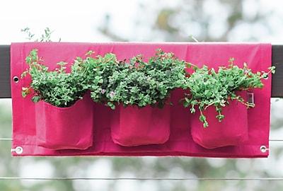 BloemBagz Deck Rail 6-Pocket Hanging Planter Bag, Amaranth (OTR3-22)