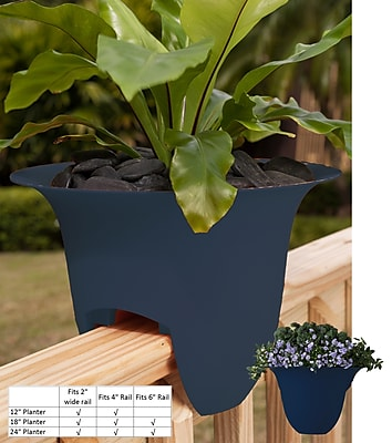 Bloem Modica Deck Rail Planter, 12