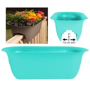 "Bloem Modica Deck Rail Planter, 24"", Calypso (MR2427)"