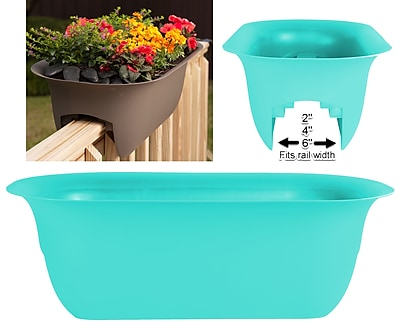 Bloem Modica Deck Rail Planter, 24
