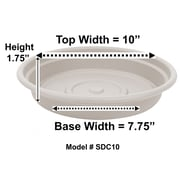 "Bloem Dura Cotta Plant Saucer Tray, 10"", Taupe (SDC10-35)"