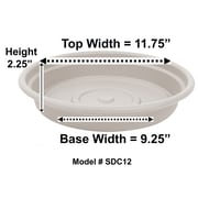 "Bloem Dura Cotta Plant Saucer Tray, 12"", Taupe (SDC12-35)"