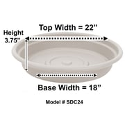"Bloem Dura Cotta Plant Saucer Tray, 24"", Taupe (SDC24-35)"