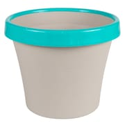 "Bloem Terra Two-Tone Planter, 8"", Taupe with Calypso (TT0835-27)"