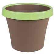 "Bloem Terra Two-Tone Planter, 8"", Chocolate with Honey Dew (TT0845-25)"
