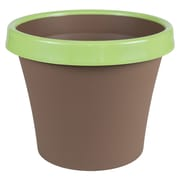 "Bloem Terra Two-Tone Planter, 12"", Chocolate with Honey Dew (TT1245-25)"
