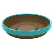 "Bloem Terra Two-Tone Saucer, 12"", Chocolate with Calypso (STT1245-27)"