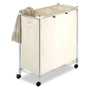 "Whitmor Supreme 31.8""(H) x 29.9""(W) x 14""(D) Laundry Sorter With Locking Wheels, Brown/Tan"