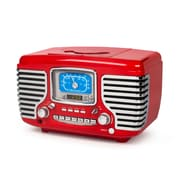 Crosley Red Corsair Radio With Bluetooth (CR612D-RE )