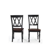 Shelby Dining Chair Set of 2 in Black Finish (CF501018-BK)