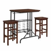 Sienna 3 Piece Casual Dining Set in Rustic Mahogany (CF7301-RM)