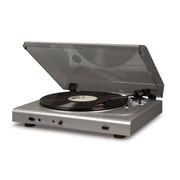 Crosley T300A Turntable In Silver With Charcoal Lid (T300A-SI)