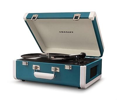 Crosley Portfolio Portable Turntable With Bluetooth Turquoise/White