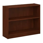 Bush Furniture Universal 2 Shelf Bookcase, Hansen Cherry (WL12473-03)