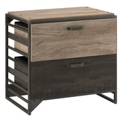 Bush Furniture Refinery Lateral File Cabinet, Rustic Gray (RFF132RG-03)