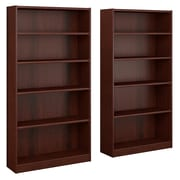 Bush Furniture Universal 5 Shelf Bookcase, Vogue Cherry, Set of 2 (UB003VC)