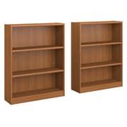 Bush Furniture Universal 3 Shelf Bookcase, Royal Oak, Set of 2 (UB002RO)