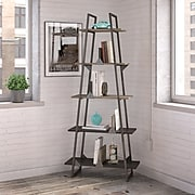 Bush Furniture Refinery A Frame Bookshelf, Rustic Gray (RFB132RG-03)