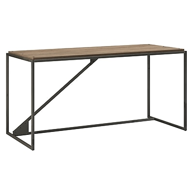 Bush Furniture Refinery 62W Industrial Desk, Rustic Gray (RFD162RG-03)