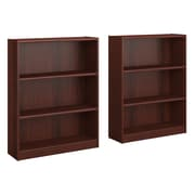Bush Furniture Universal 3 Shelf Bookcase, Vogue Cherry, Set of 2 (UB002VC)
