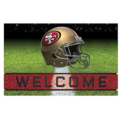 FANMATS Crumb Rubber Door Mat, Team Color, 18