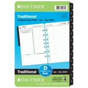 """Day-Timer® Reference Two Page Per Day Refill, 12 Months, January Start, Loose-Leaf, Desk Size, 5 1/2"""" x 8 1/2"""" (92800-1901)"""