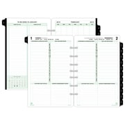 """Day-Timer® Classic One Page Per Day Refill, 12 Months, January Start, Loose-Leaf, Desk Size, 5 1/2"""" x 8 1/2"""" (12010-1901)"""