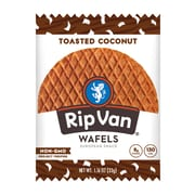 Rip Van Wafels® Non-GMO European Snack, Toasted Coconut, 12/Pack (RVW00337)