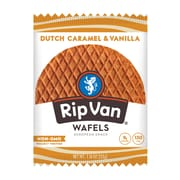 Rip Van Wafels® Non-GMO European Snack, Dutch Caramel and Vanilla, 12/Pack (RVW00334)