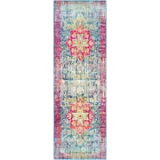 "Surya Aura Silk Polypropylene 2' 7"" x 7' 6"" Runner, Pink (ASK2303-2776)"