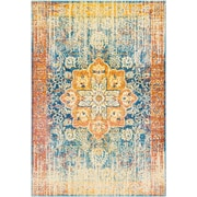 "Surya Aura Silk 7' 10"" x 10' 3"" Area Rug, Yellow (ASK2304-710103)"