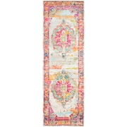 "Surya Aura Silk Polypropylene 2' 7"" x 7' 6"" Runner, Pink (ASK2305-2776)"