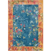 "Surya Aura Silk 7' 10"" x 10' 3"" Area Rug, Blue (ASK2332-710103)"