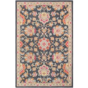 Surya Fire Work 2' x 3' Area Rug, Black & Gray (FIR1008-23)