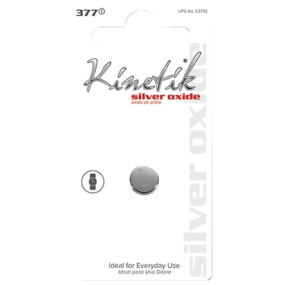 Kinetik Watch Silver Oxide Battery 377, Single (UBC53792)