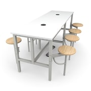 "OFM 96"" Laminate Endure Series Standing Height Table with 8 Seats, White (9008-MPL-WHT)"