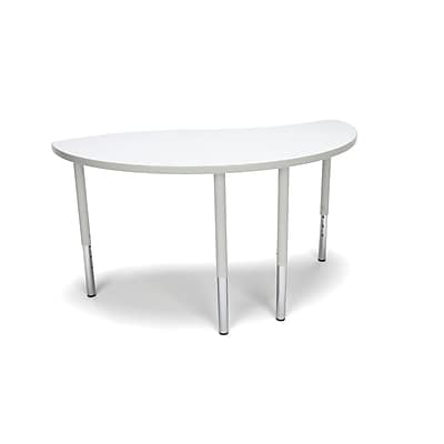 "OFM Ying Adapt Series 54""W x 30""D Standard Height Adjustable Table, White (YING-LL-WHT)"