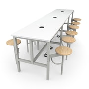 """OFM 141"""" Laminate Endure Series Standing Height Table with 12 Seats, White (9012-MPL-WHT)"""
