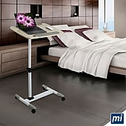 Mount-It! Rolling Laptop Tray, Height Adjustable Bedside Cart with Caster Wheels (MI-7946)