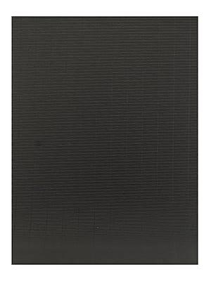 Global Art Folia Color Corrugated Paper black 19 1/2 in. x 27 1/2 in. [Pack of 10](PK10-741090)