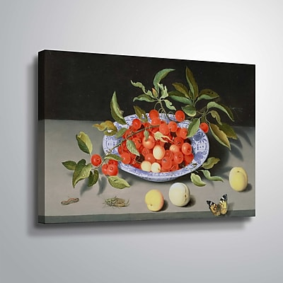 ArtWall Still Life of Cherries and Peaches 8x12, Unframed (1DER003A0812W)