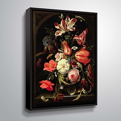 ArtWall Still Life of Flowers on a Ledge 18x24, Floater (1MIG001A1824F)