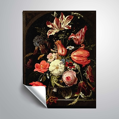 ArtWall Still Life of Flowers on a Ledge 24x32, Unframed (1MIG001A2432P)
