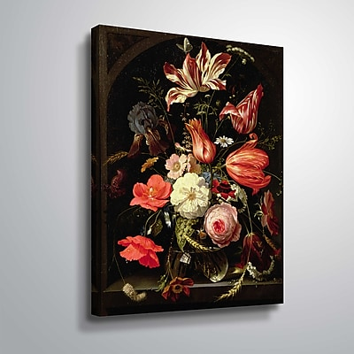 ArtWall Still Life of Flowers on a Ledge 14x18, Unframed (1MIG001A1418W)