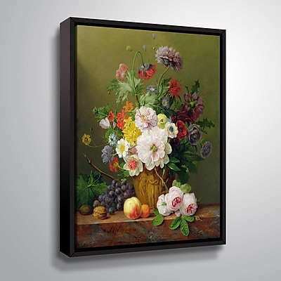 ArtWall Still Life of Flowers and Fruit 14x18, Floater (1OBE001A1418F)