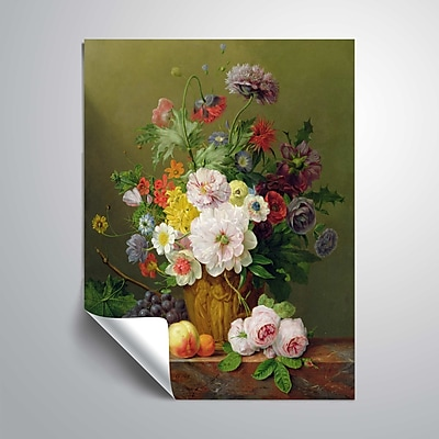 ArtWall Still Life of Flowers and Fruit 14x18, Unframed (1OBE001A1418P)