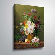 ArtWall Still Life of Flowers and Fruit 36x48, Unframed (1OBE001A3648W)