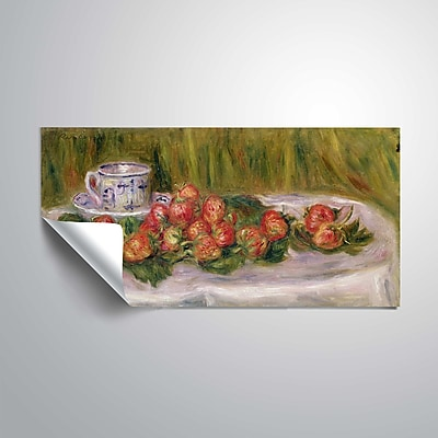 ArtWall Still Life of Strawberries and a Tea-Cup 24x48, Unframed (1REN031A2448P)