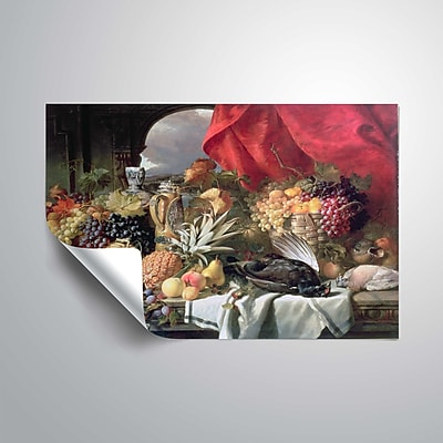 ArtWall A Still Life of Game Birds and Numerous Fruits 32x48, Unframed (1WDU001A3248P)