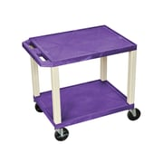 "Offex 26""H Tuffy AV Cart with 2 Shelf, Electric, Purple Shelves/Putty Legs (OF-WT26PE)"